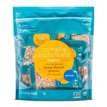 Honey Almond Granola Multipack - 18oz - Simply Balanced™