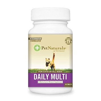 Daily Multi for Cats, Multivitamin Tablets Size:Pack of 2