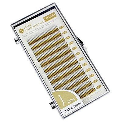 Eyelash Extension Blink 5D J 0.07mm X 11mm Curl Individual Black False Lashes