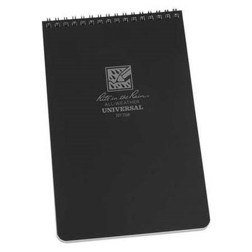 RITE IN THE RAIN 758 All Weather Notebook, Black Cover G8093830