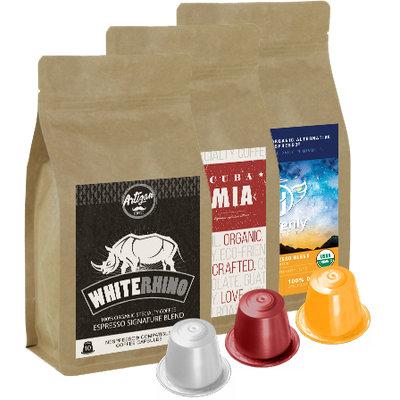 Artizan Coffee Co. 30 - Artizan Blend Variety Pack - 100% Organic Nespresso Compatible Capsules