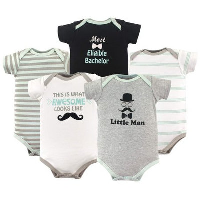 Luvable Friends® Size 18-24M 5-Pack Little Man Hanging Bodysuits in Grey/Black