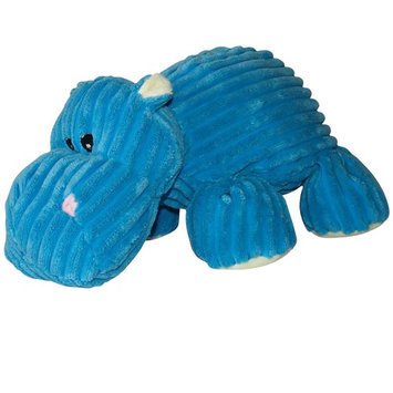 Hagen Dogit Luvz Corduroy Characters Plush Dog Toy Style/Color: Blue Hippo
