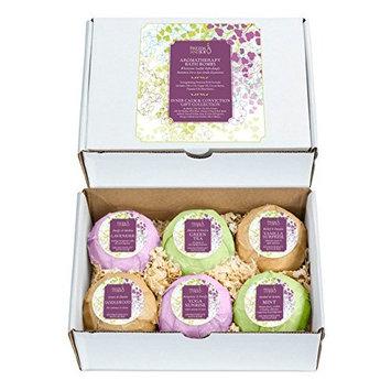 Freida and Joe Fizzy Bath Bombs Spa Gift Set Perfect for Women, Fragrances Include Vanilla, Mint, Lavender, Yoga, Sandalwood, and Green Tea, with Moisturizing Shea Butter