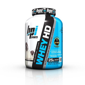 BPI Sports Whey HD Ultra Premium Protein Powder, Milk and Cookies, 4.1 Pound [Milk and Cookies]