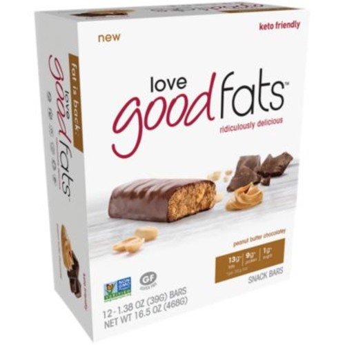 Love Good Fats - PEANUT BUTTER CHOCOLATEY (12 Bar) by Love Good Fats at the Vitamin Shoppe