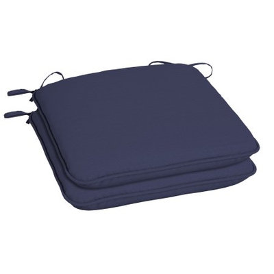 Arden Companies Better Homes and Gardens Outdoor Patio Universal Seat Pad, Set of Two, New Navy Texture