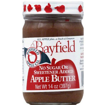 Bayfield No Sugar or Sweetener Added Apple Butter, 14 oz, (Pack of 6)