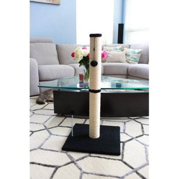 One Source International, Llc 36 inch Sisal Scratching Post (Charcoal Fleece 16x16 Base)