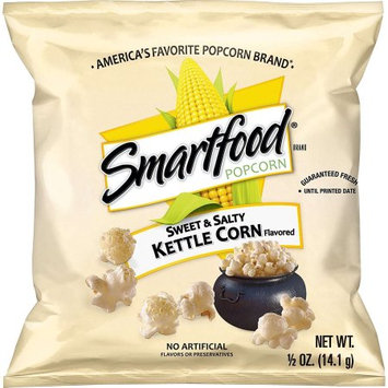 Frito Lay Smartfood Sweet & Salty Kettle Corn Flavored Popcorn, 0.5 Ounce Bags (Pack of 40)