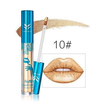 Hot Sales! DEESEE(TM) New Holographic Lip Gloss Metallic Diamond Lasting Lipstick Shine Holo Glam