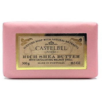 Castelbel Porto Rich Shea Butter with Exfoliating Walnut Shell Soap 10.5 ounces