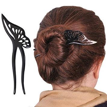 Marycrafts Butterfly Buffalo Horn Hair Fork, Hairfork, Hairpin, Hair Accessoies For Women
