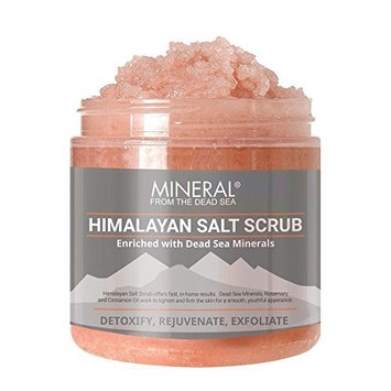Mineral from the Dead Sea Himalayan Salt Scrub, Exfoliate and Detoxify, 20 oz