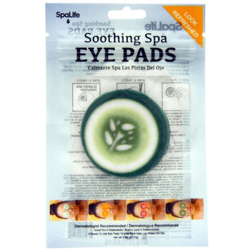 My Spa Life, Soothing Spa Eye Pads, Cucumber, 4 Treatments