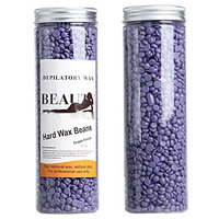 Miss Flora Lavender Hair Removal Depilatory Wax Beads, Full-Body Hard Wax Beans for Women and Men, 400g