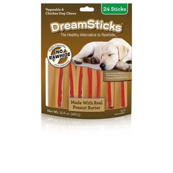 Dreambone Dreamsticks, Peanut Butter, 24-Pack