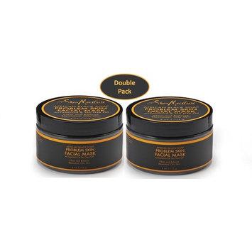 Shea Moisture African Black Soap Problem Skin Facial Mask w/ Tamarind & Tea Tree Oil 6 oz - Clear & Balance, Blemished, Oily Skin - Value Bundle Pack - Qty of 2 Each