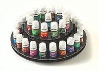 Therapure Health Essentials Essential Oil Carousel Display Rack, 2-Shelf, 33-5ml Bottles, Black