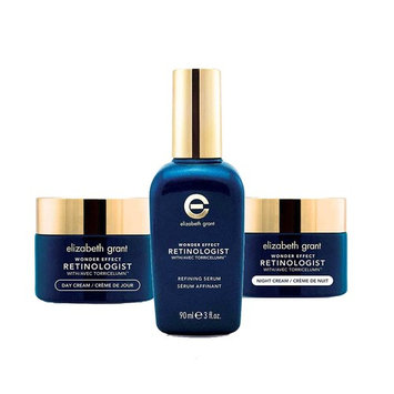 Elizabeth Grant Wonder Effect Advanced Retinol Collection for All Skin Types, Refining Serum, Day and Night Cream For Anti Aging, Discolouration and Brighter Skin Tone