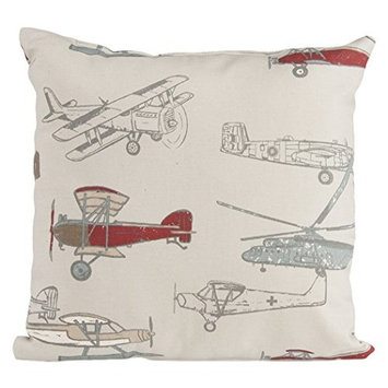 Glenna Jean Fly-by Pillow, Airplane Print