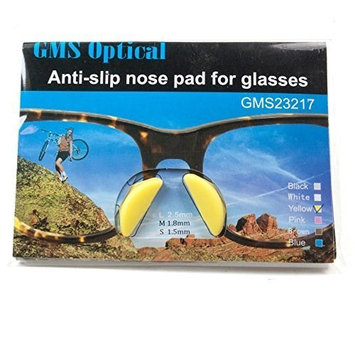 GMS Optical | 2.5mm x 17mm Yellow Adhesive Butterfly Silicone Nose Pads