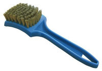 TOUGH GUY 1VAK5 Tire Cleaning Brush, Brass, PPL, 91/2In