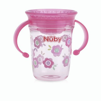 Luv N' Care, Ltd. Nuby Tritan 8oz Two Handle Wonder Cup with Hygienic Cover, Flowers