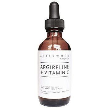 ARGIRELINE Peptide + Vitamin C 2 oz Serum with Organic Hyaluronic Acid - Anti Aging, Amazing Sun Damage Repair & Botox Alternative - ASTERWOOD NATURALS - Glass Bottle