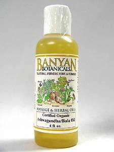 Ashwagandha/Bala Oil 4 oz by Banyan Botanicals