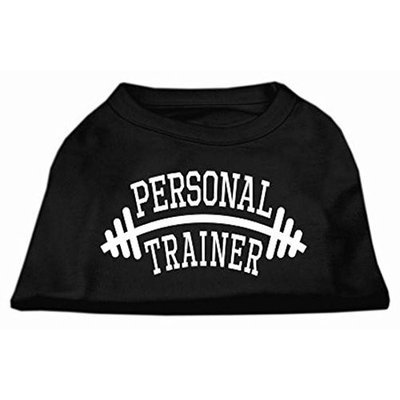 Mirage Pet Products 51-88 XLBK Personal Trainer Screen Print Shirt Black XL - 16