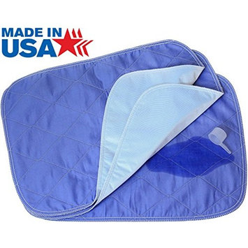 Washable Wetness Indicator Bed Pads Chair Pads / Incontinence Small Underpad - 18x24 - 3 Pack