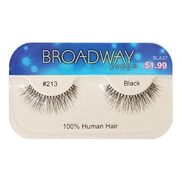 Broadway Eyes False Strip Eyelashes 100% Human Hair Black #213, BLA37