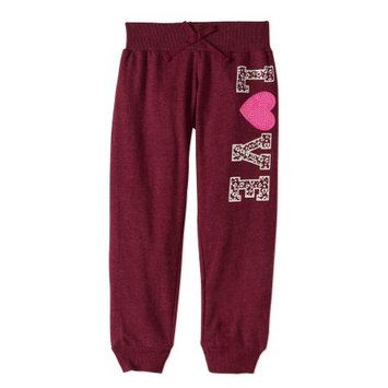 One Step Up Little Girls' Joggers (Sizes 4 - 6X) - cabernet red, 5-6