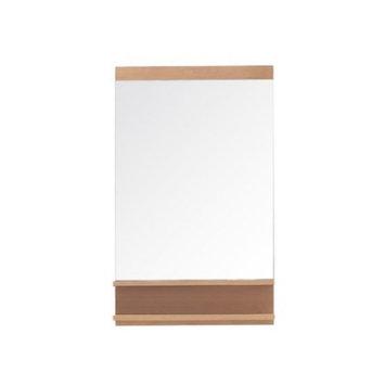 Elle 35.4 in. L x 22 in. W Wall Mirror in Pear Wood
