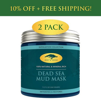 (2 Pack) Dead Sea Mud Mask for Face and Body - 100% Natural Spa Quality - Perfect Pore Minimizer, Deep Skin Cleanser, Reduces Acne, Blackheads and Oiliness for a Tighter Skin and Healthier Complexion : Beauty
