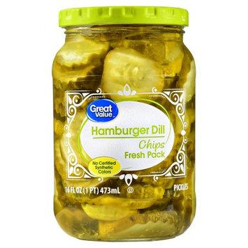 Great Value Hamburger Dill Chips Pickles