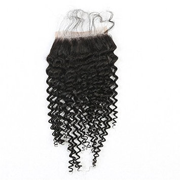 Natural Color 12inch Free Part Kinky Curly Lace Closure With Baby Hair 44 Lace Top Closure At Mxangel
