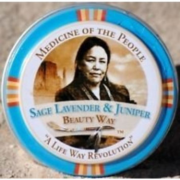 Sage, Lavender & Juniper Aroma Therapeutic Healing Balm and Treatment of Minor Skin Ailments by Medicine of the People .75 oz (Pack of 3 Tins)