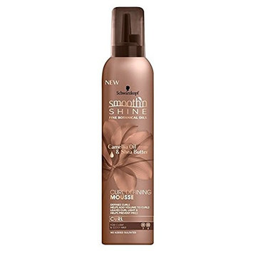 SMOOTH N SHINE CURL DEFINING MOUSSE Camelia Oil Shea Butter 9oz