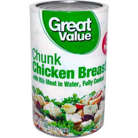 Great Value Chunk Chicken Breast, 12.5 oz, 3 ct