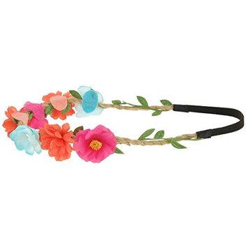Capelli New York Girls Multi Floral Headwrap Multi Brites One Size