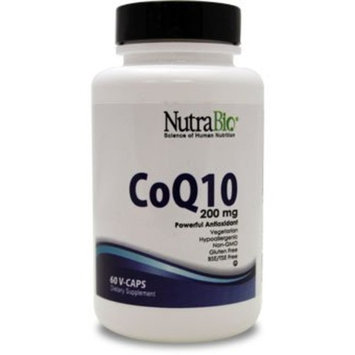NutraBio CoQ10 (100 mg) - 60 Vegetable Capsules