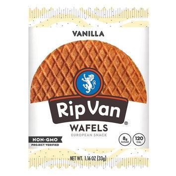 Rip Van Wafels Non-GMO Snack Wafels, Vanilla, 48 Count, 55.68 OZ, low calorie & low sugar [Vanilla]