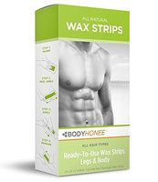 Bodyhonee Hair Removal Wax Strips Legs + Body, 24 Count