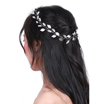 Missgrace Bridal Crystal Wedding Hair Vine Wedding Hair Piece for Women