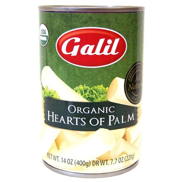 Galil 100% Organic Whole Hearts of Palm 14-Ounce Can