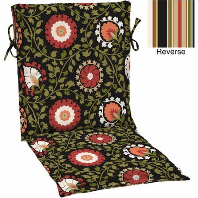 Arden Companies Better Homes and Gardens Outdoor Patio Reversible Sling Chair Cushion, Multiple Patterns