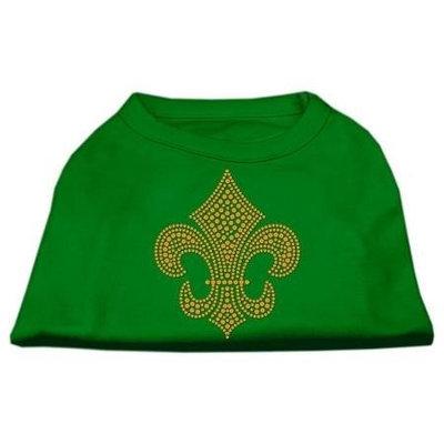Ahi Gold Fleur de Lis Rhinestone Shirts Emerald Green Sm (10)