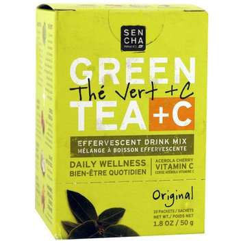 Sencha Naturals, Green Tea + C, Original, 10 Packets, 1.8 oz (50 g) Each [Flavor : Original]